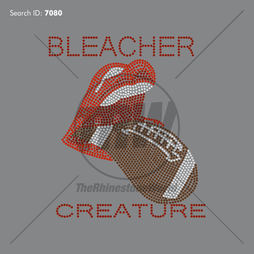 Football Bleacher Creature Rhinestone Design - Download
