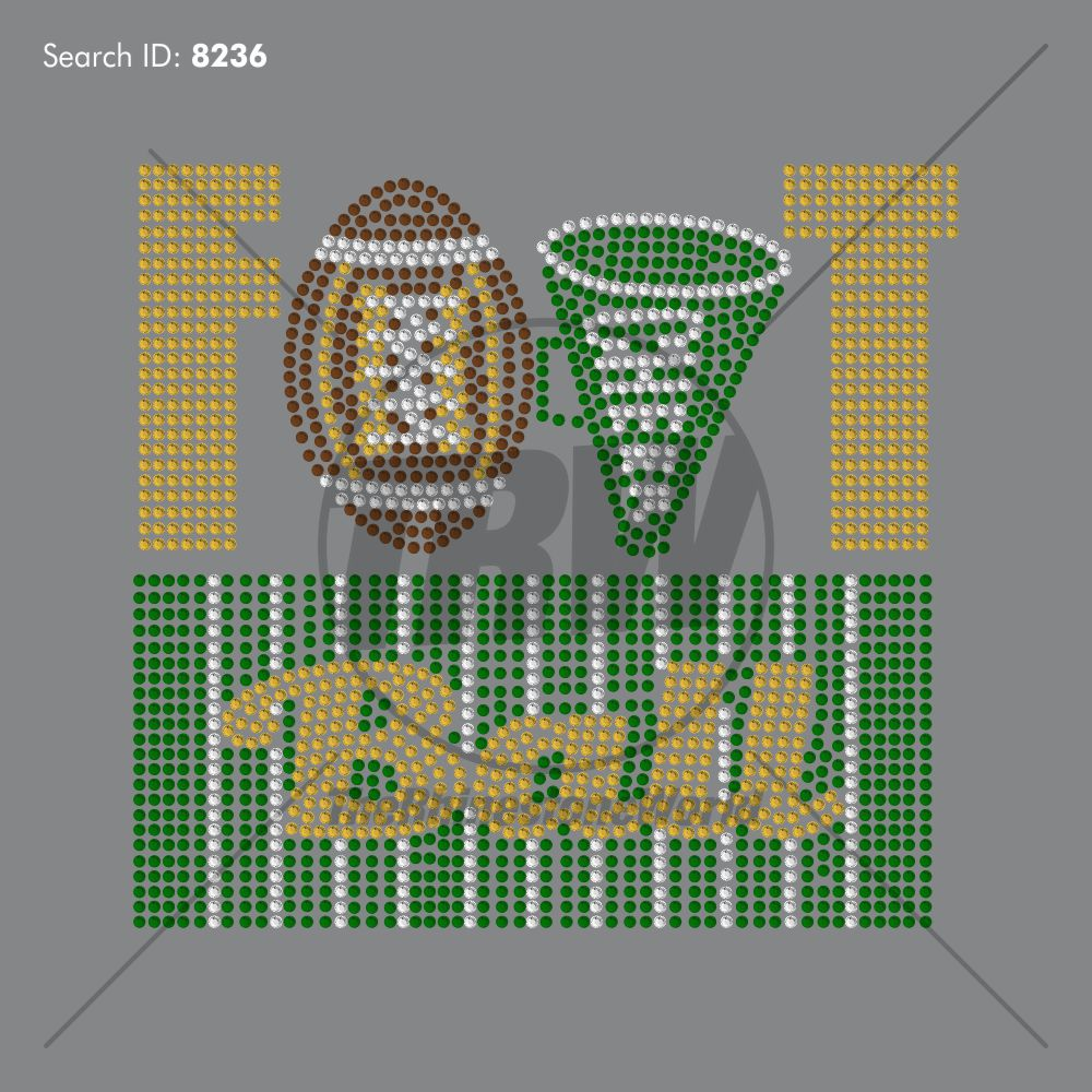 Football Cheer Rhinestone Design - Download