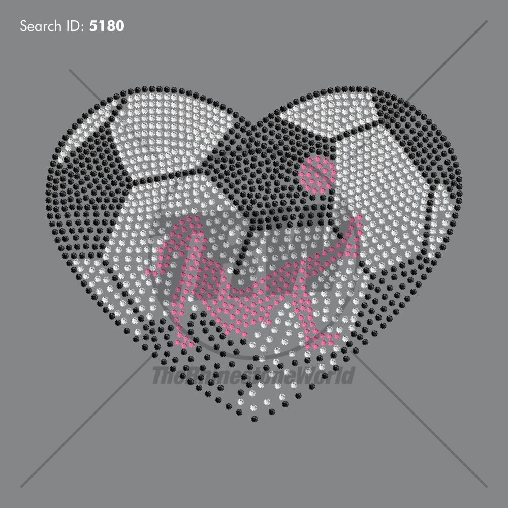 Faded Girls Soccer Heart Rhinestone Design - Download
