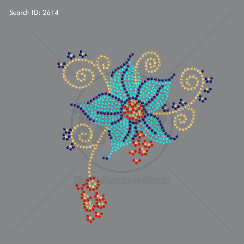 Flower Power 2 Rhinestone Design - Download