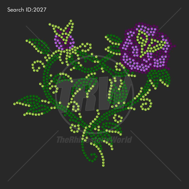 Flower Power 3 Rhinestone Design - Download