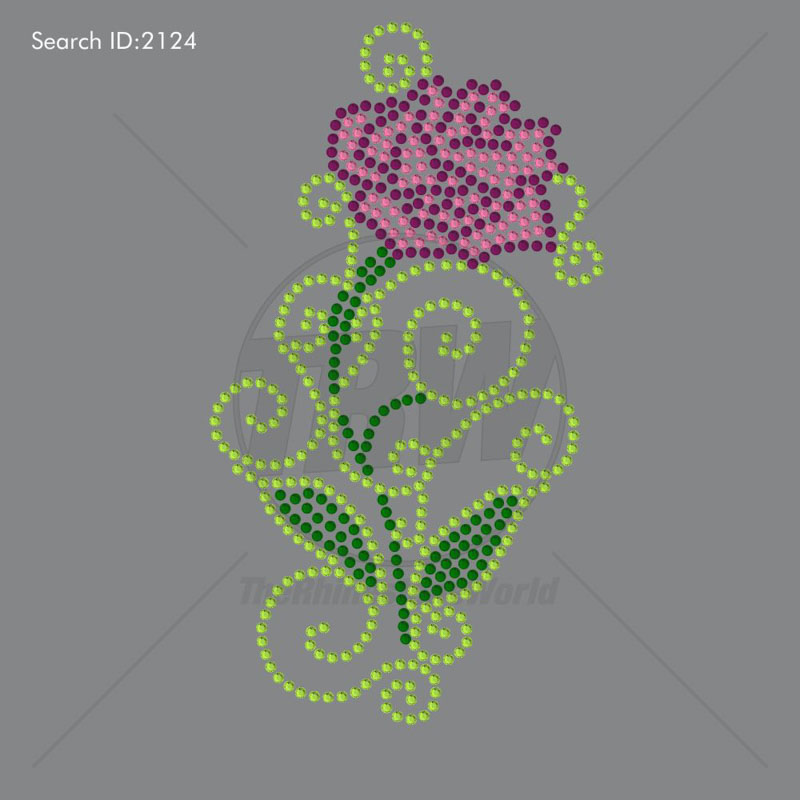 Flower Power 5 Rhinestone Design - Download