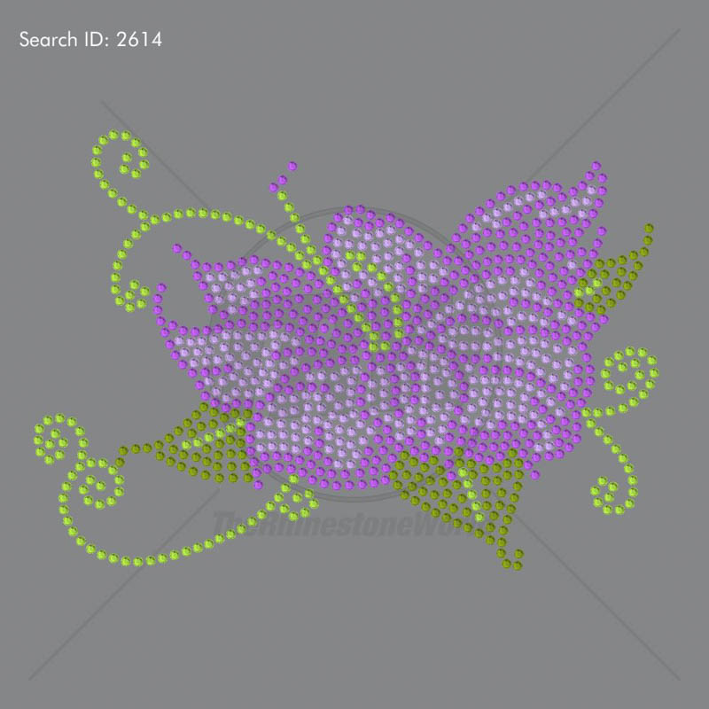 Flower Power Rhinestone Design - Pre-Cut Template