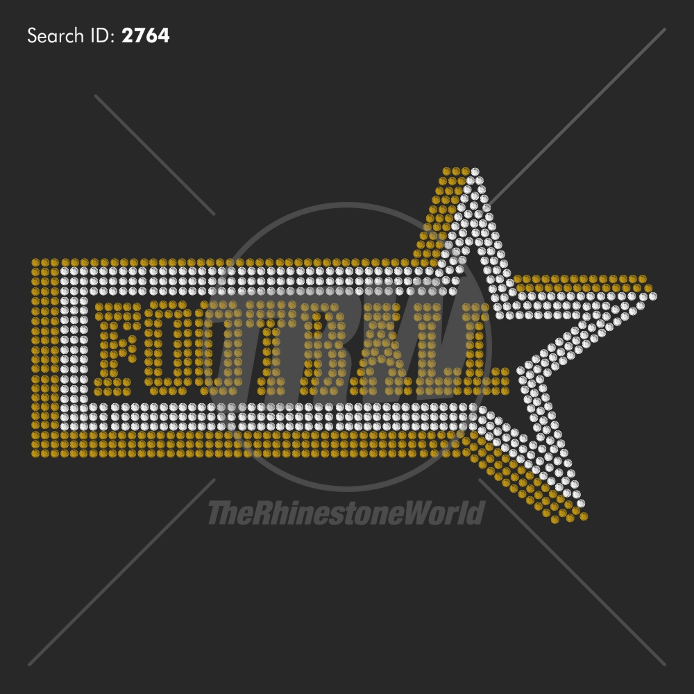 Football 36 Rhinestone Design - Pre-Cut Template