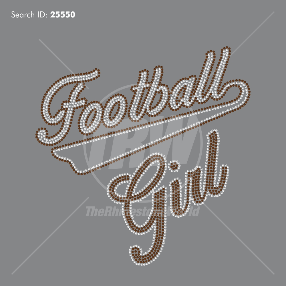Football Girl 505 Rhinestone Design Download - Pre-Cut Template
