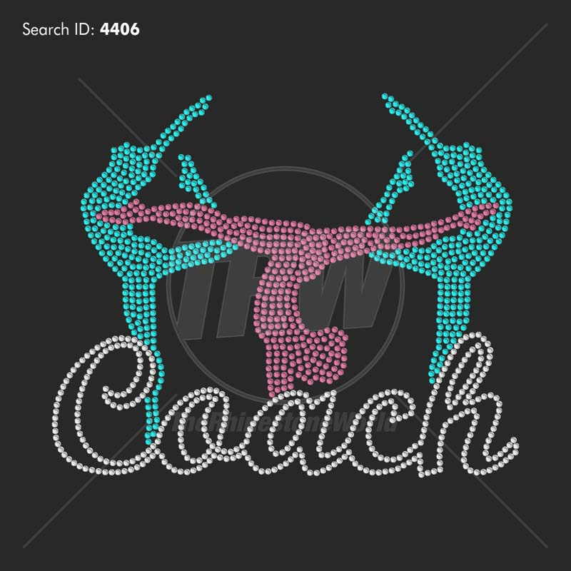 Gymnastics Coach 33 Rhinestone Design Download - Download