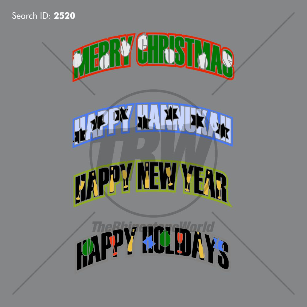 Happy Holiday's 4 Vector Artwork Pack - Download