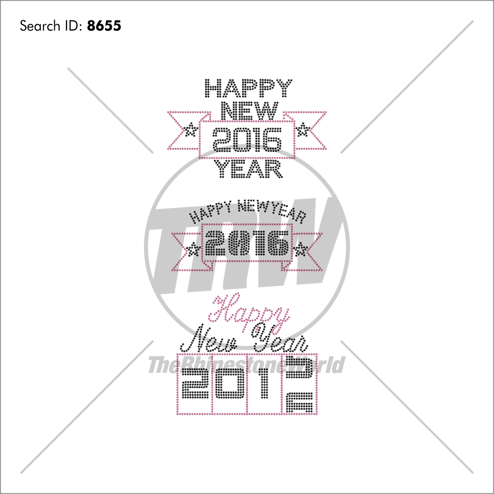 Happy New Year 2016 Rhinestone Design Pack - Download