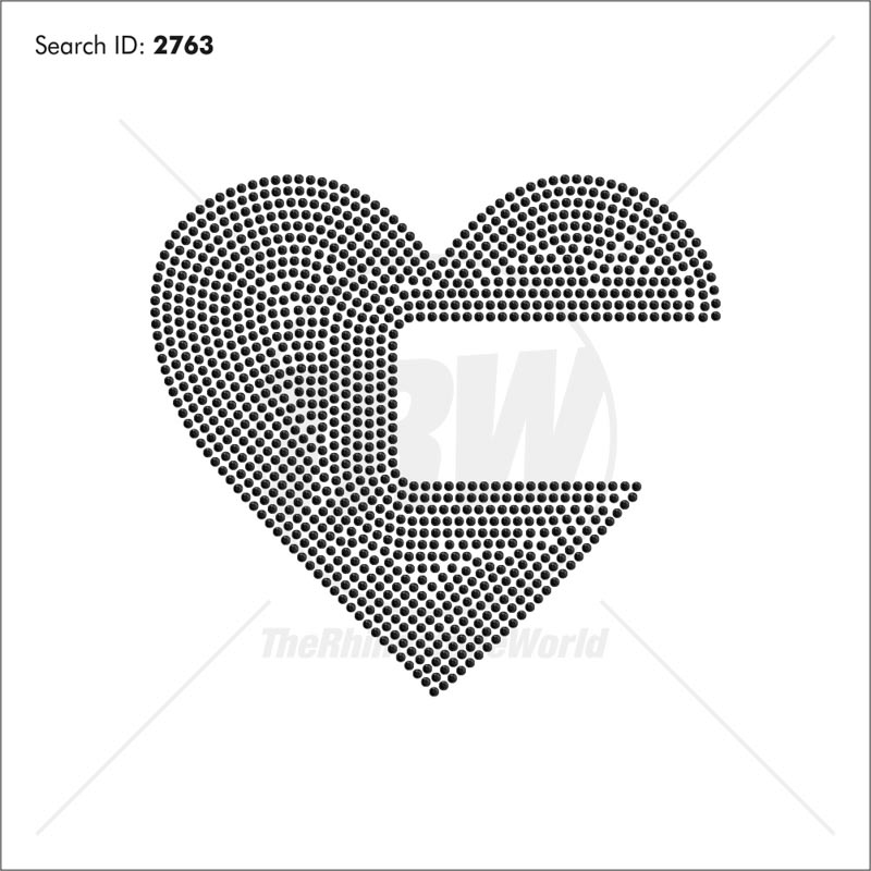Heart School Rhinestone Design Download - Download