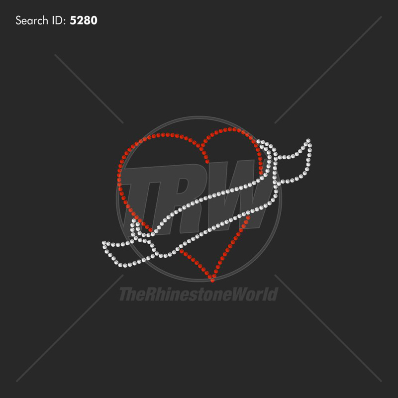Heart and Banner Rhinestone Design - Download