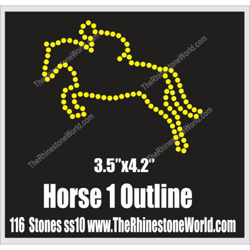 Horse Outline 1 Rhinestone Design - Download