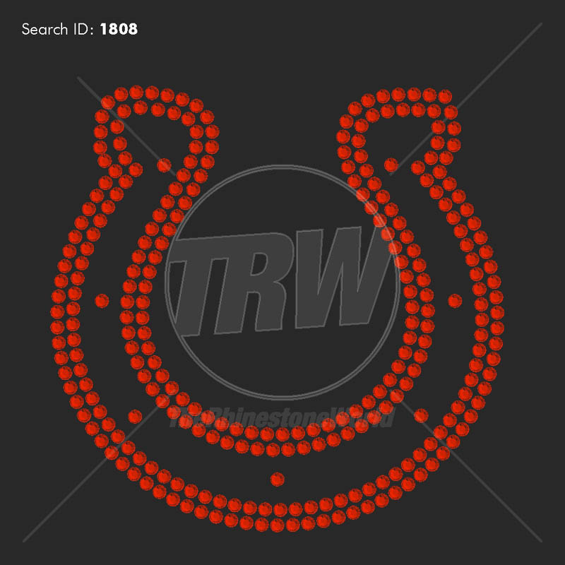 Horseshoe 2 Rhinestone Design - Download