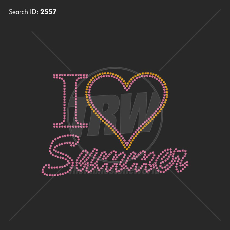 I Heart Summer Rhinestone Design - Download
