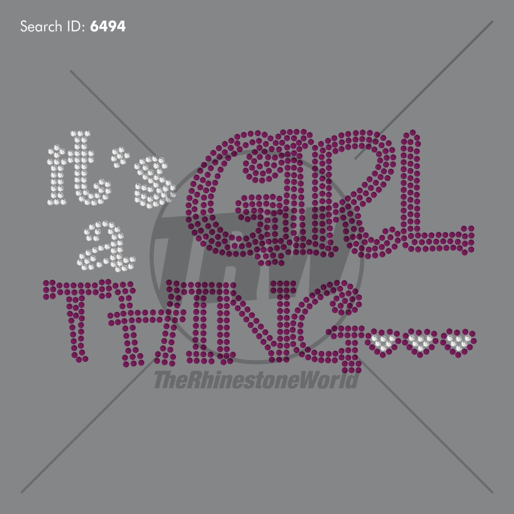 It's a Girl Thing Rhinestone Design - Download