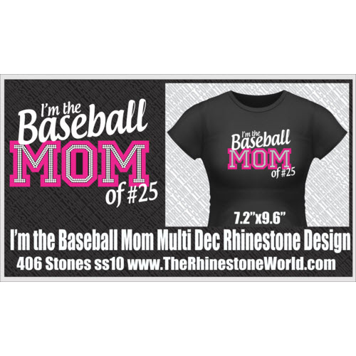 I'm the Baseball Mom of TRW Multi-Dec Rhinestone/Vinyl Desig - Download