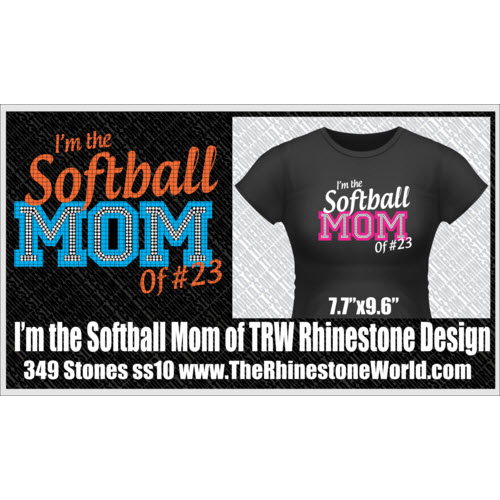 I'm the Softball Mom of TRW Multi-Dec Rhinestone/Vinyl Desig - Download