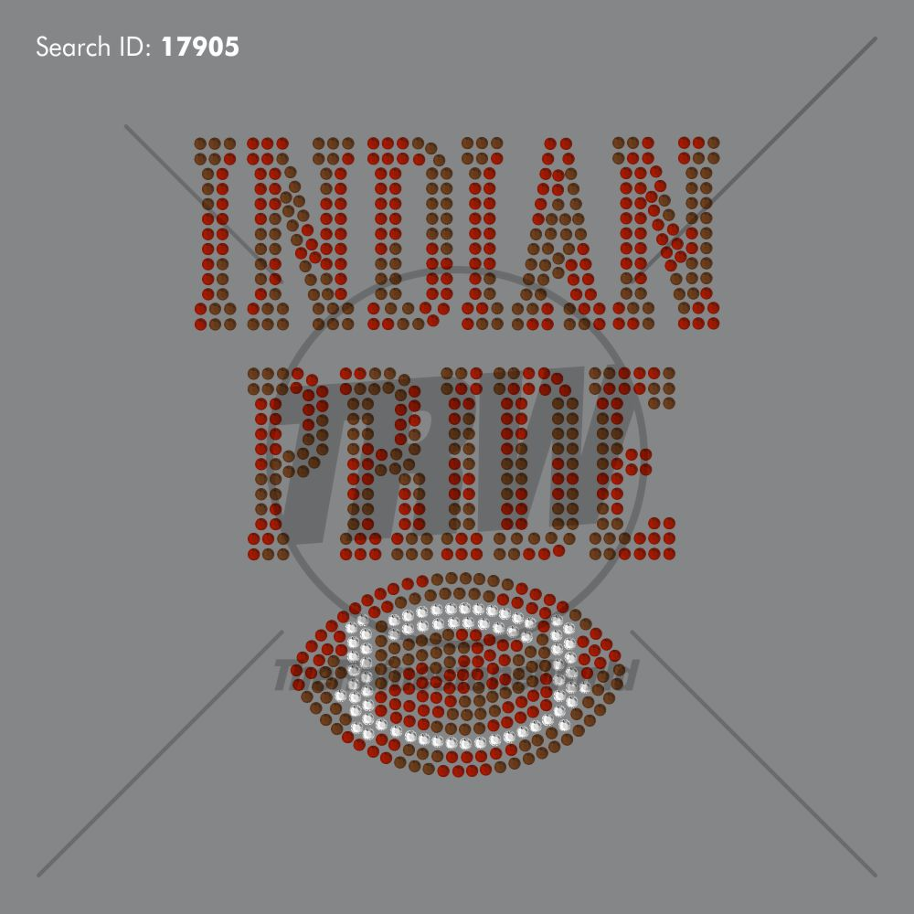 Indian Pride Rhinestone Design - Pre-Cut Template