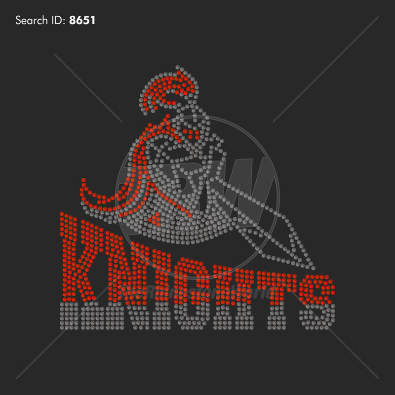 KNIGHTS 55 Rhinestone Design - Pre-Cut Template