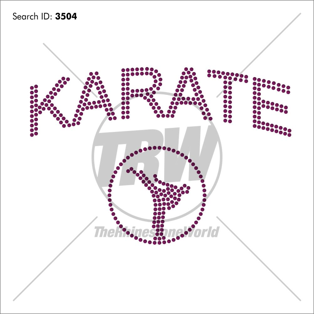Karate Mom Rhinestone Design - Pre-Cut Template