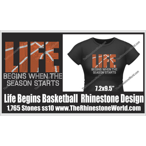 Life Begins When The Season Starts Basketball Design - Download