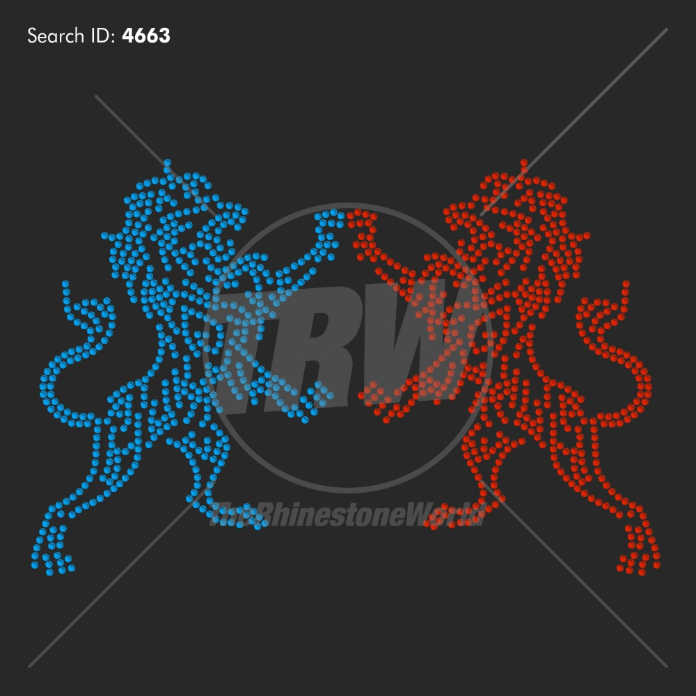 Lion 65 Rhinestone Design - Pre-Cut Template