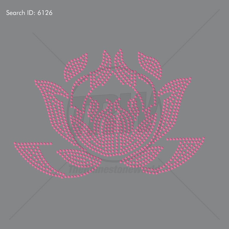 Lotus 5 Rhinestone Design - Download