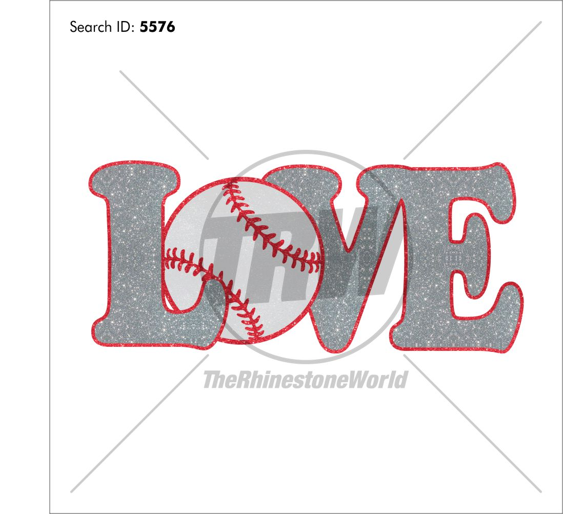 Love Baseball 55 Vector Design - Download