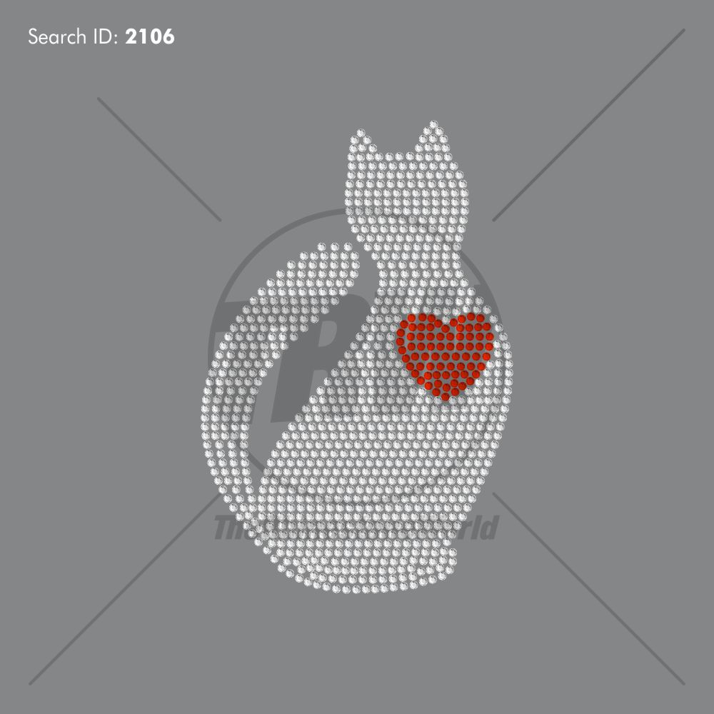 Love Kitty Rhinestone Design - Download