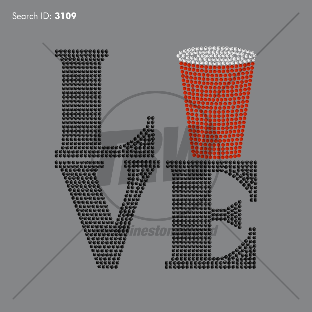 Love Red Cup ADD-ON - Pre-Cut Template