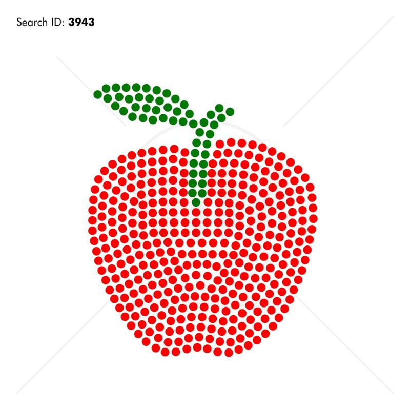 LOVE Teacher Apple ADD-ON Rhinestone Design - Download