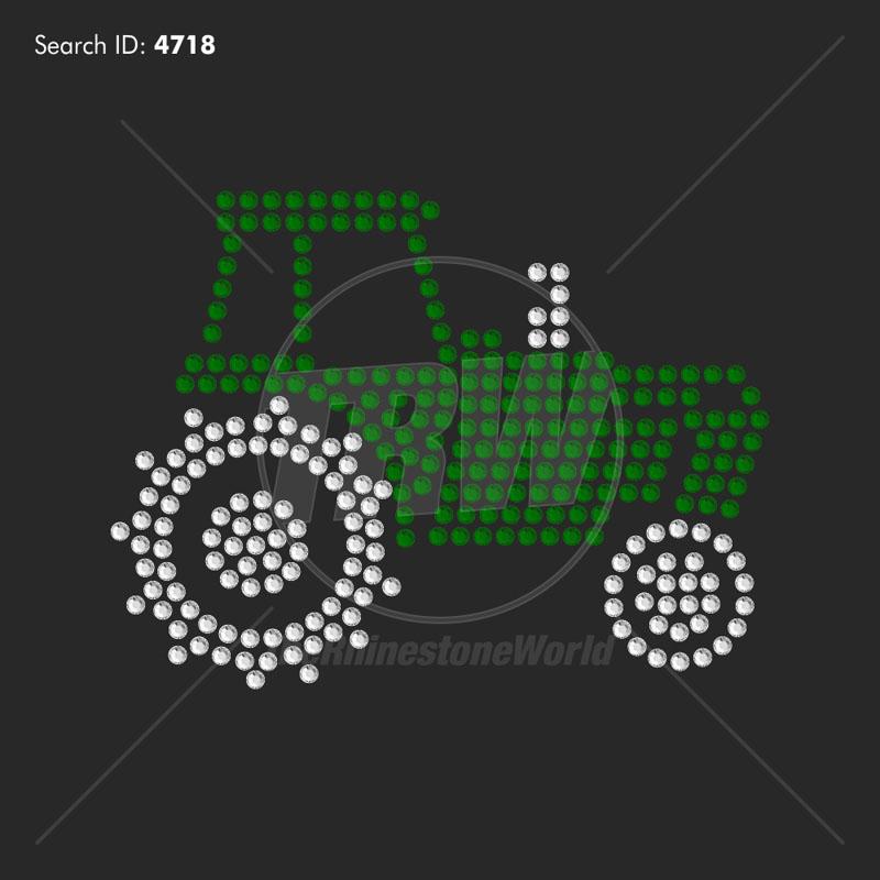 love tractor add on rhinestone design pre cut template