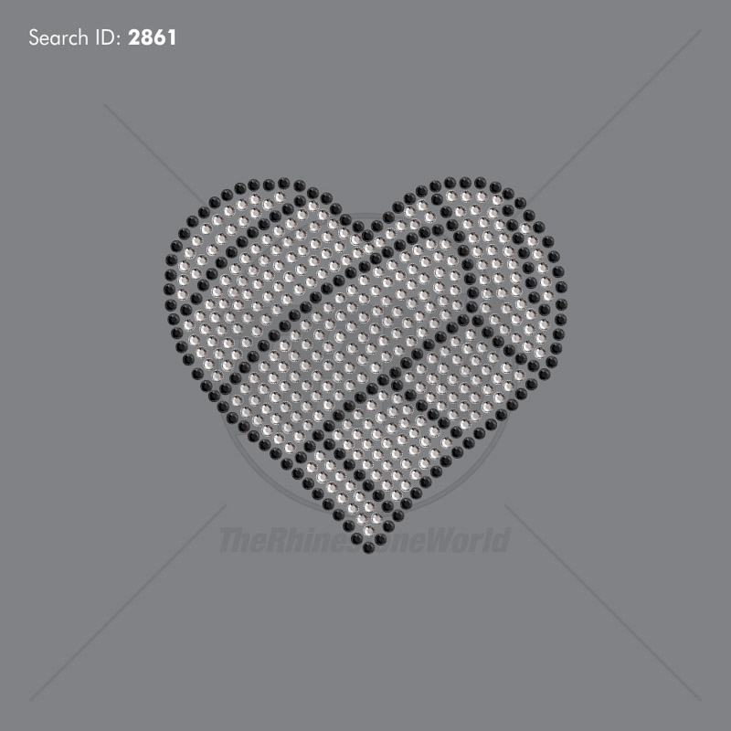 Love Volleyball Heart Add-On File Rhinestone Design - Download