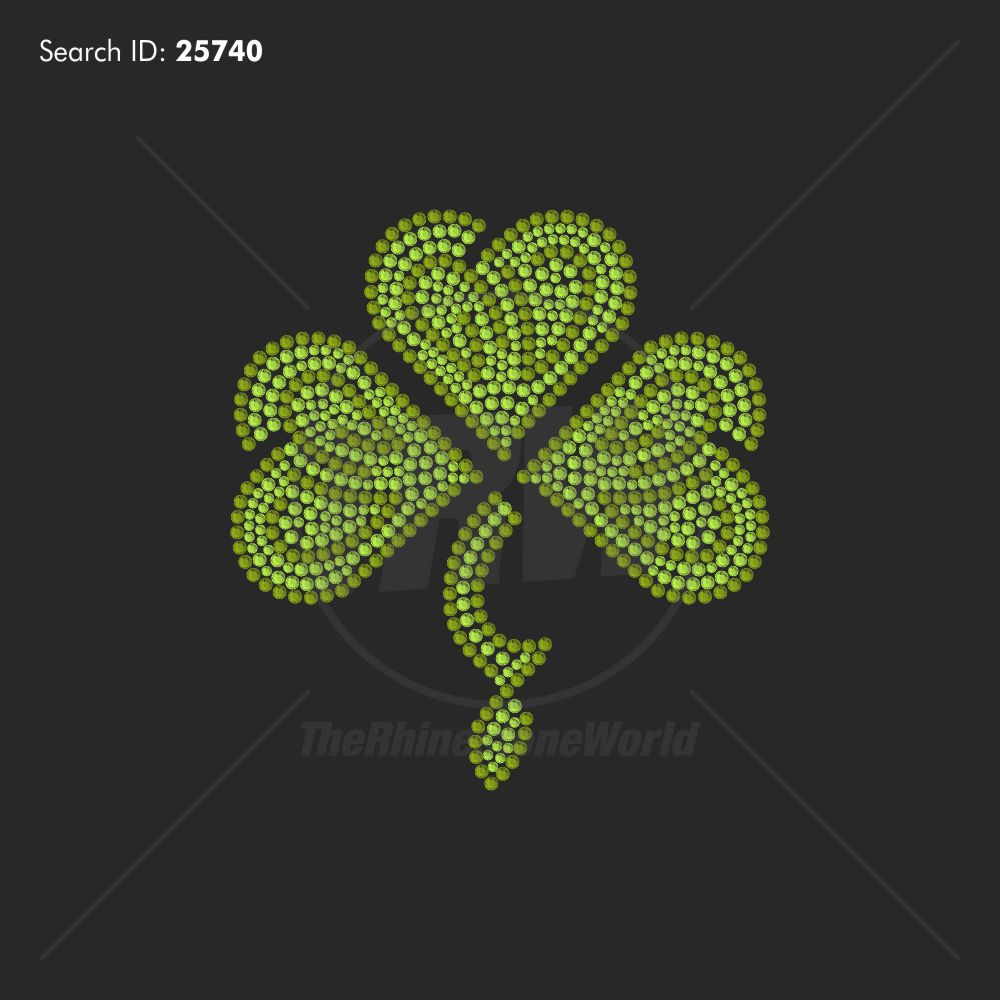 Lucky Charm Rhinestone Design - Pre-Cut Template