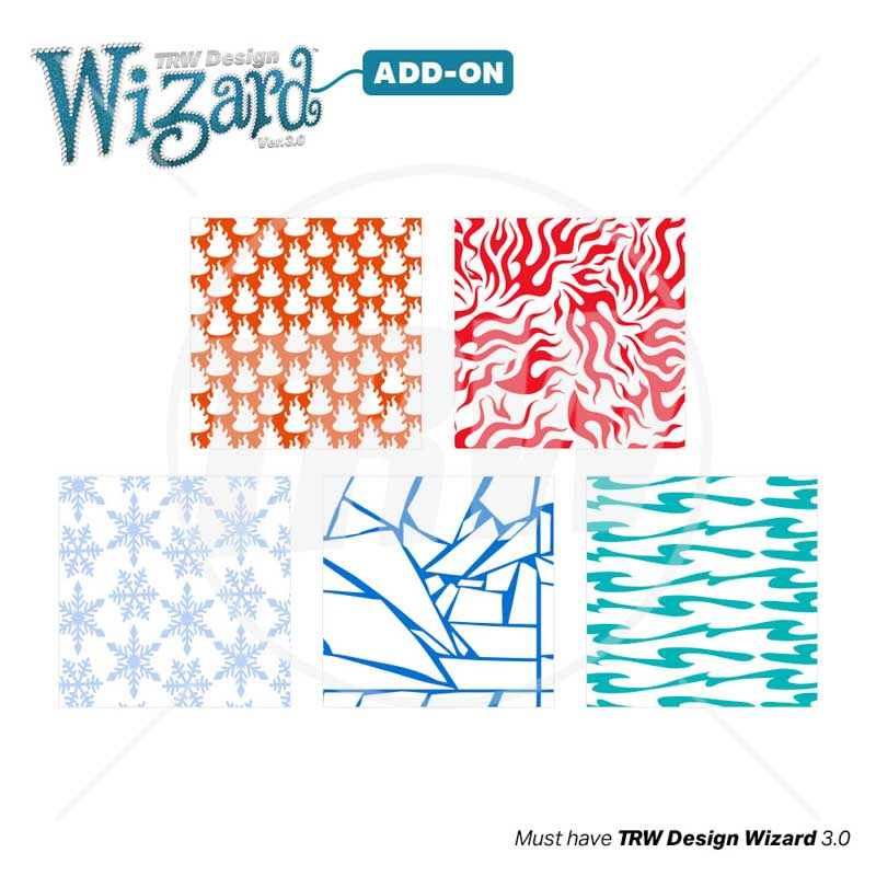TRW Magic Pattern Pack Vol. 4 Fire & Ice for Design Wizard 3.0 - Download
