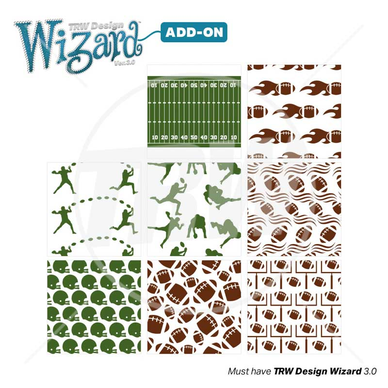 TRW Magic Pattern Pack Vol. 8 Football for Design Wizard 3.0 - Download