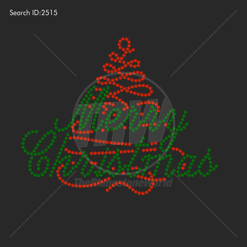 Merry Christmas 2 Rhinestone Design - Download