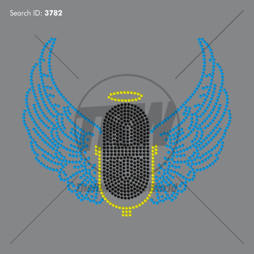Microphone with Wings Design - Pre-Cut Template