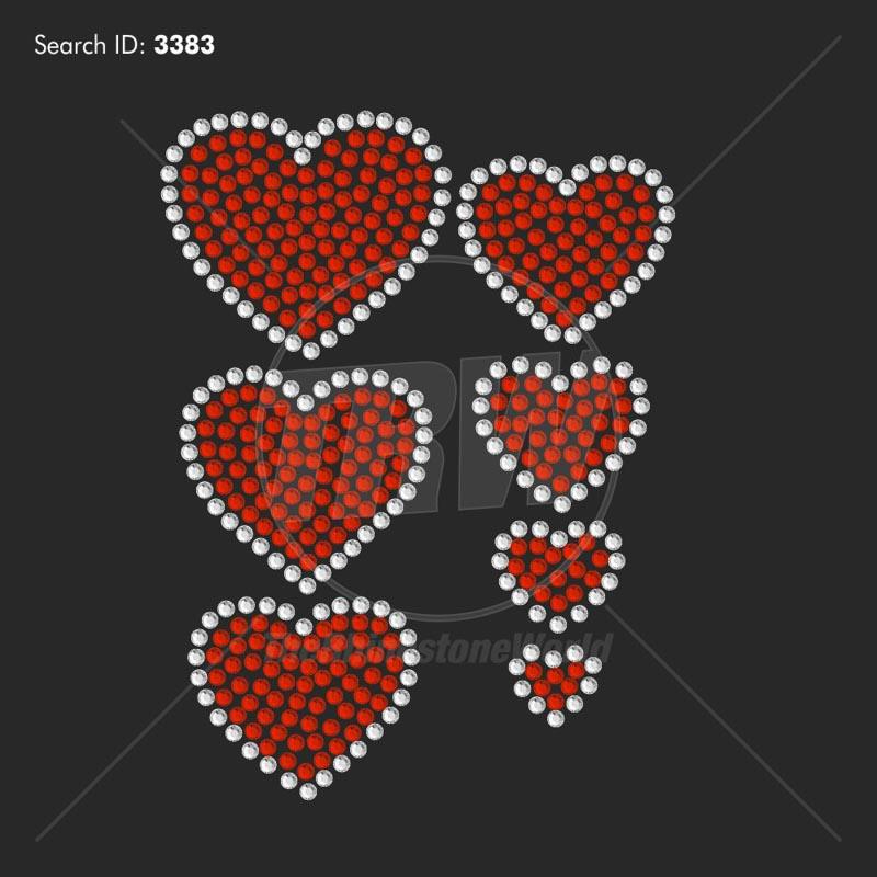 Mini Heart Rhinestone Design Pack
