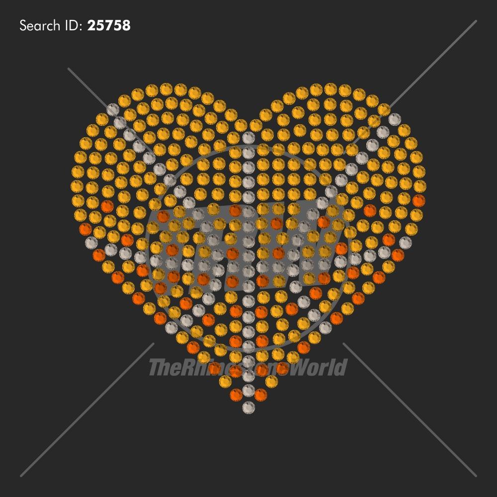 Mini Shaded Sports Hearts Rhinestone Design Pack