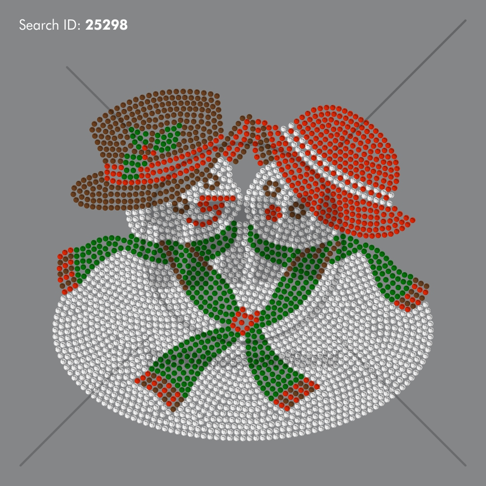 Mr and Mrs Snowman Rhinestone Design - Pre-Cut Template