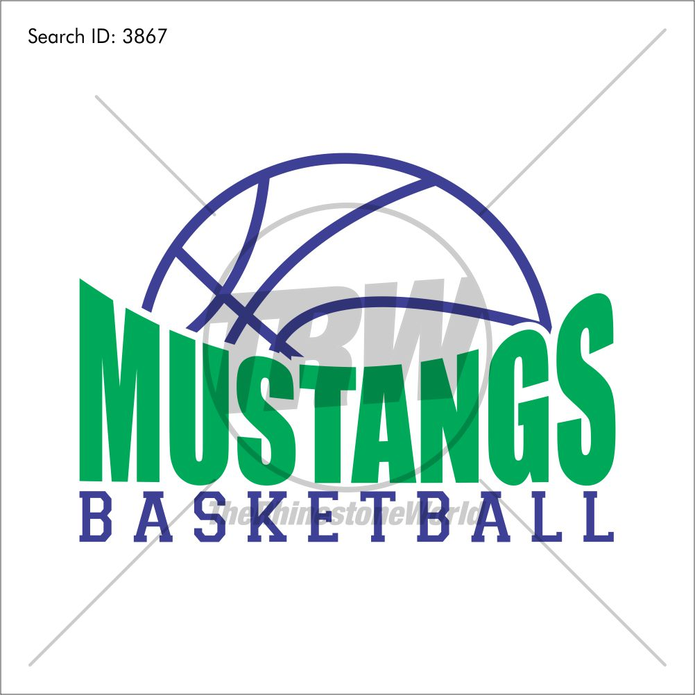 Mustangs Basketball Design - Download