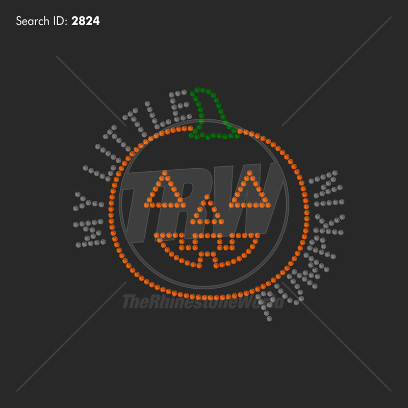 My Little Pumpkin 1 Rhinestone Design - Pre-Cut Template