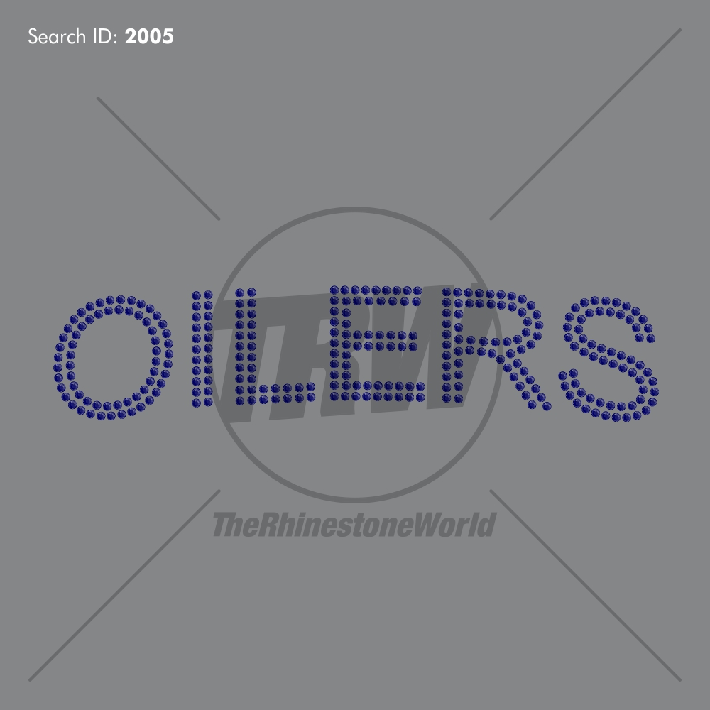 Oilers Add-On Rhinestone Design - Download