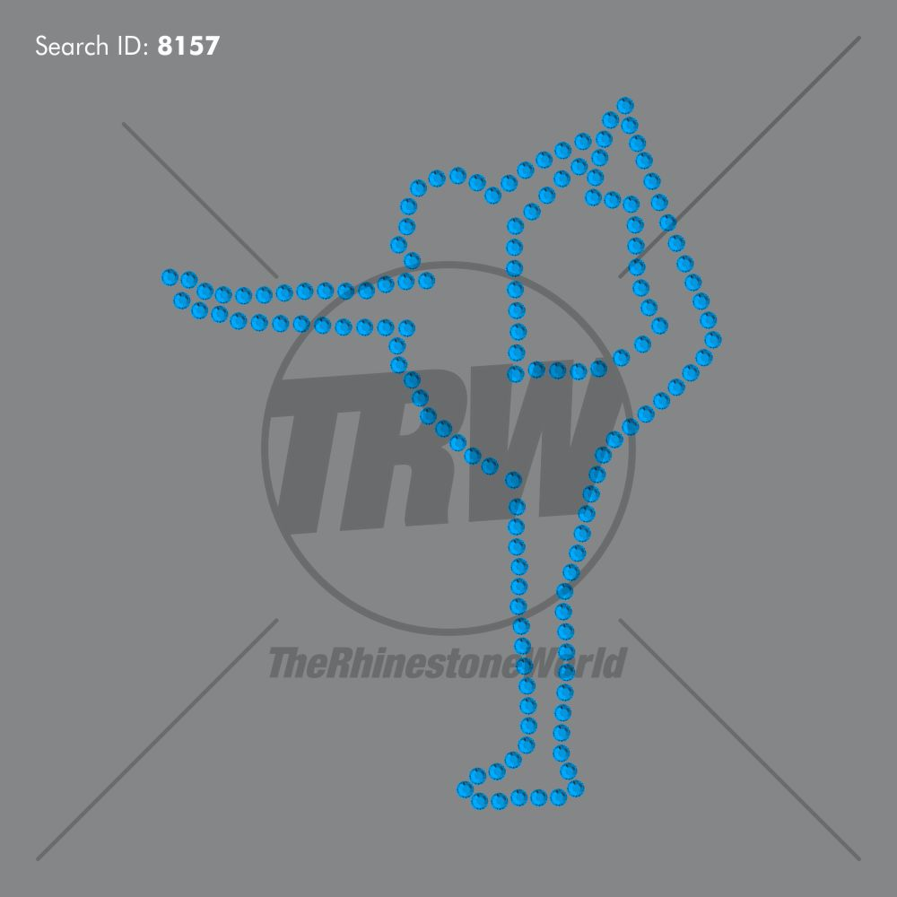 Outline Cheer 6 Rhinestone Design - Download