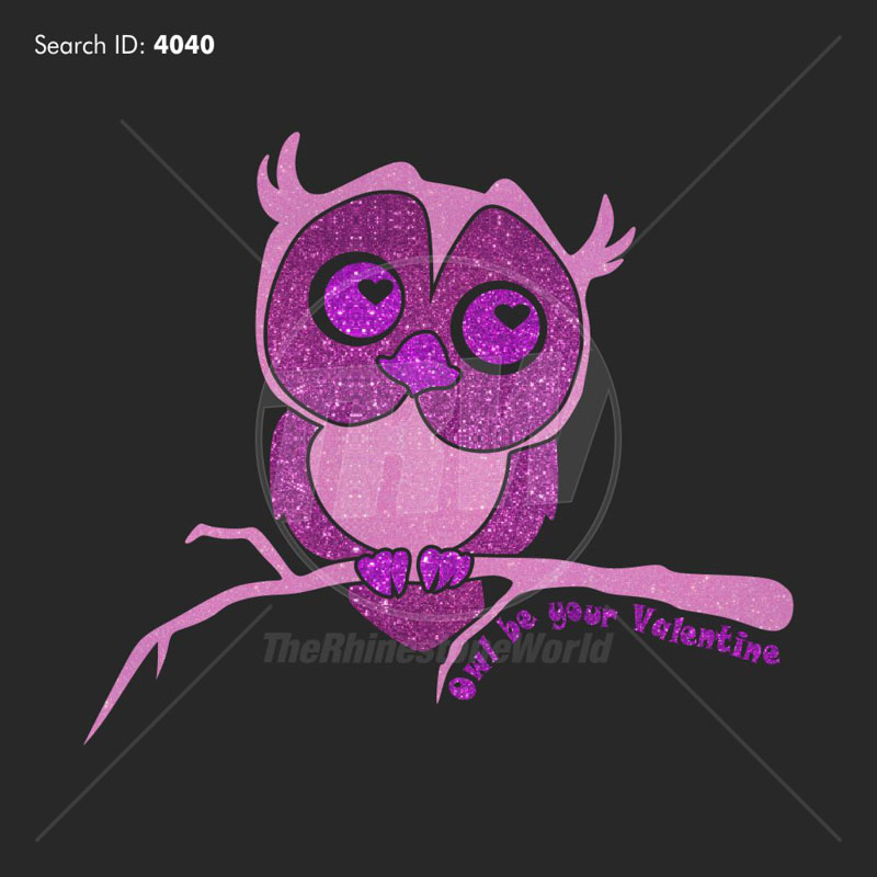 Owl Be Your Valentine Vector Design - Download