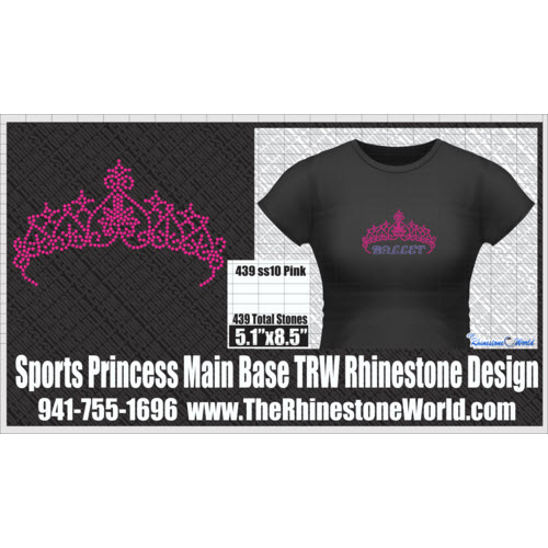 PRINCESS MAIN BASE Rhinestone Design - Pre-Cut Template