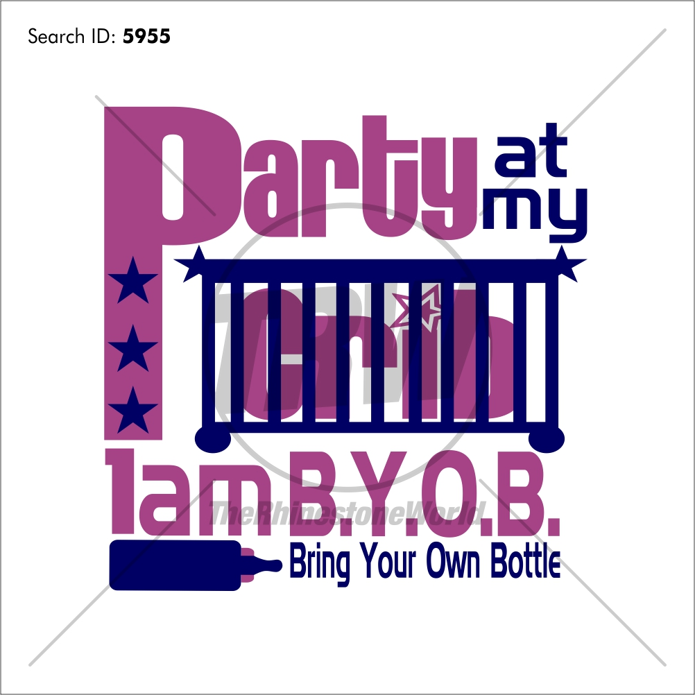 Party at my Crib Vector Design - Download