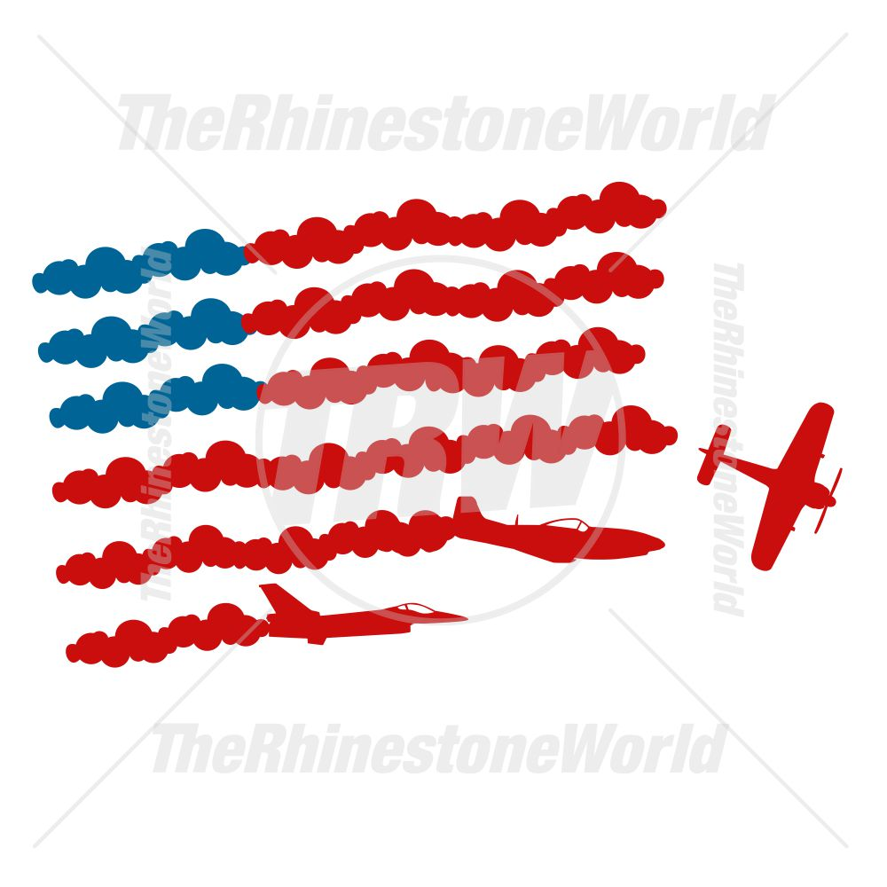 Patriotic Planes Vector Design - Download