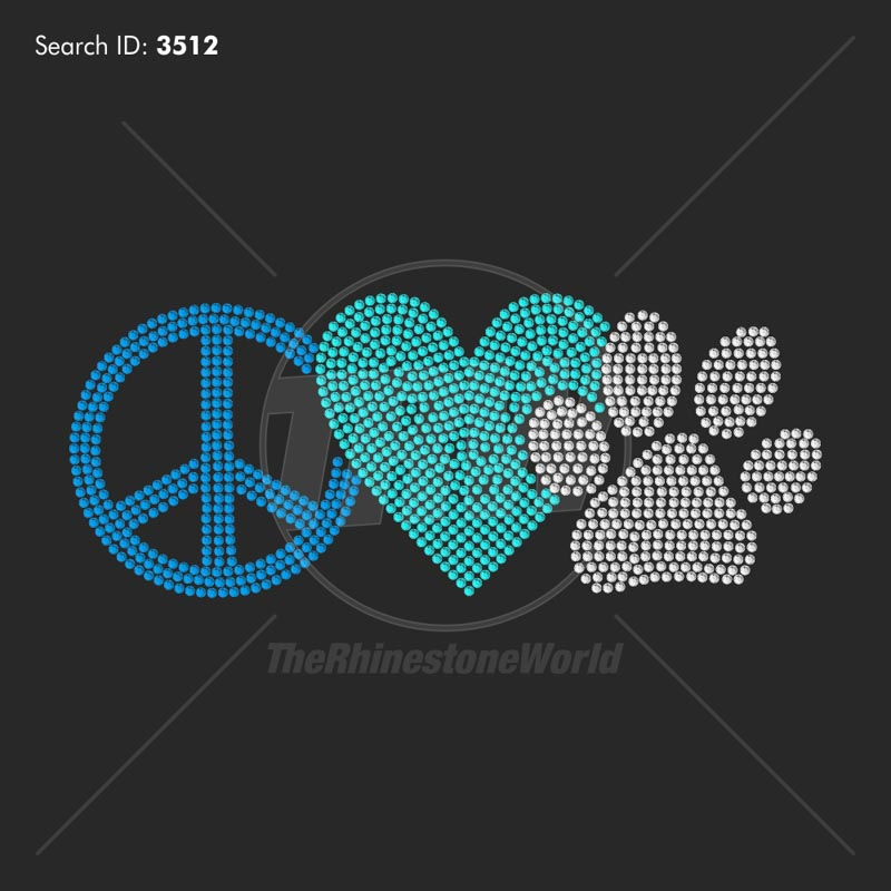 Peace Love Dog Paw PreCut Template Impressive Download Images About Peace