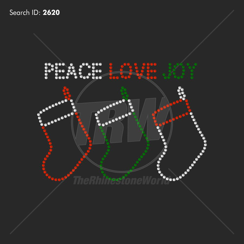 Peace Love Joy Design - Pre-Cut Template